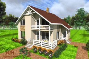 Дом с балконами