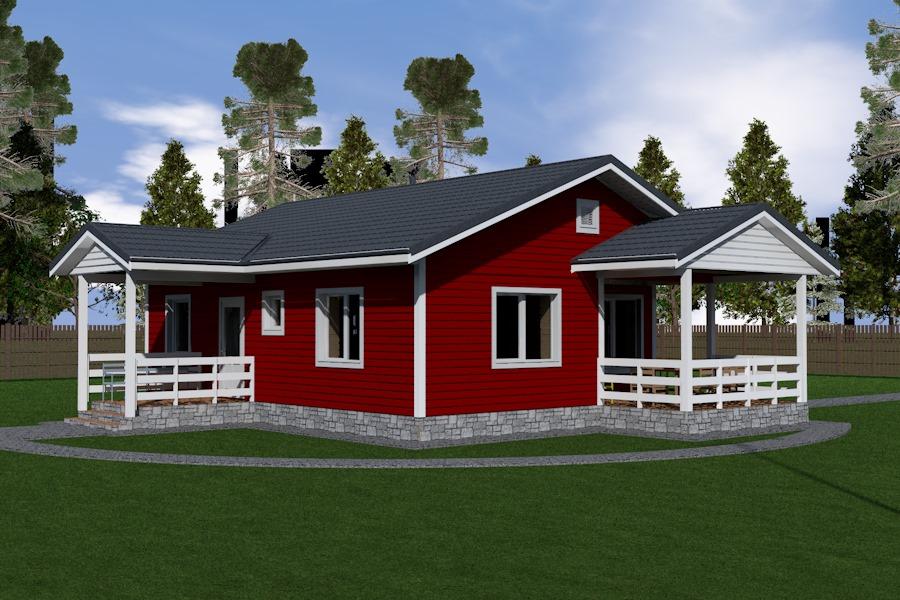Одноэтажный энергоэффективный дом