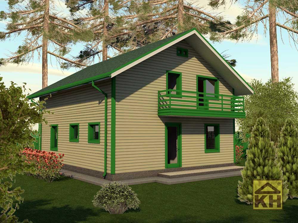 Двухэтажный дом 9х11м