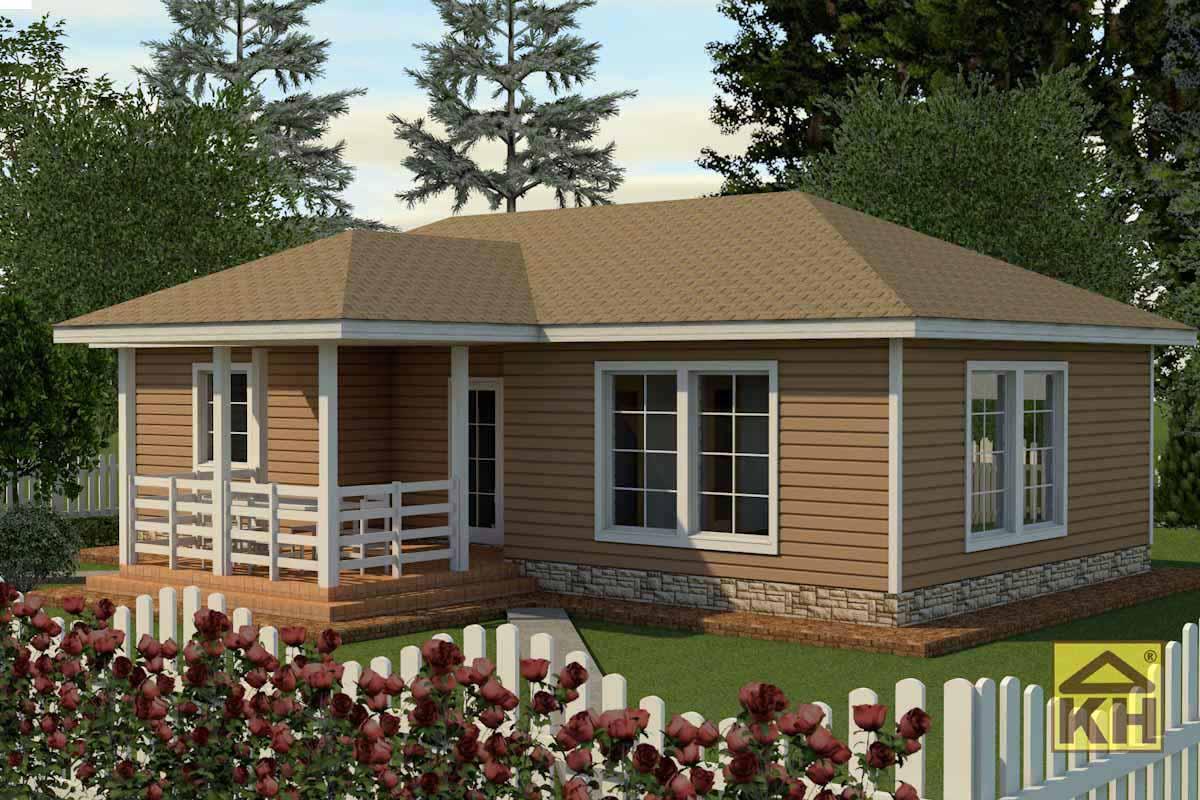 Одноэтажный дом 6х12